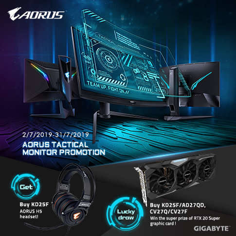 Aorus Tactical Monitor Promotion_MY