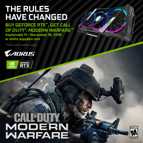 【APAC】PURCHASE ANY GIGABYTE AORUS RTX20/SUPER AND GET CALL OF DUTY : MODERN WARFARE